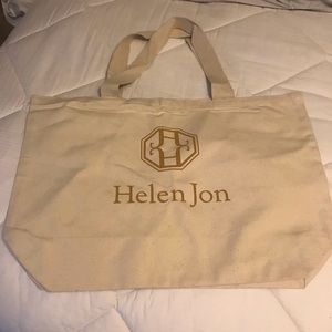 NWOT Large Canvas Tote by Helen Jon